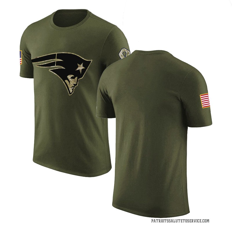 Youth Blank New England Patriots Legend Olive Salute to Service T-Shirt